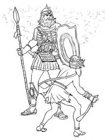david  goliath fight coloring page  printable coloring pages