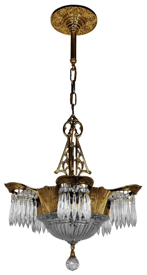 antique deco chandelier deco prism lincoln utopia chandelier modernism