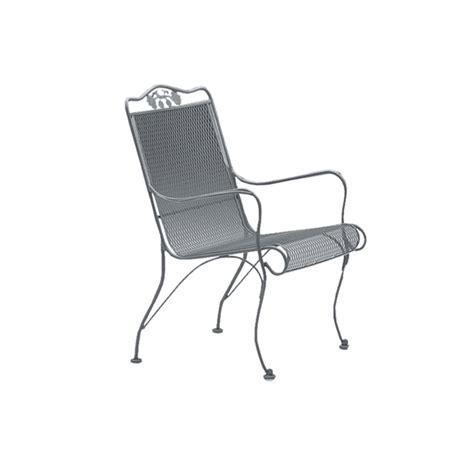 woodard briarwood wrought iron high back lounge chair 400006