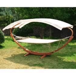 Wooden Hammock With Canopy by Patio Outdoor Curved Arc Hammock Stand Wooden Bed