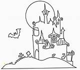 Halloween Dracula Coloring Ausmalbilder Schloss Dem Divyajanani Vampires sketch template