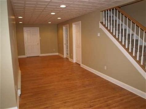 basement finishing  engineered flooring  recessed