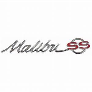 1965 Chevy  U0026quot Malibu Ss U0026quot  Rear Quarter Emblems