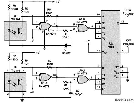 Shaft Encoder Pulse Generating Circuit Basic