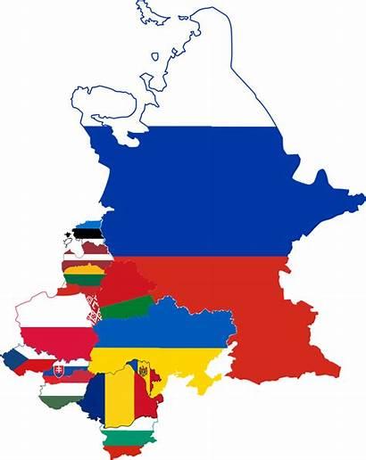 Eastern Flag Map Countries European Europe Svg