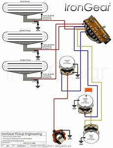 Two Humbucker 5 Way Switch Wiring Diagram
