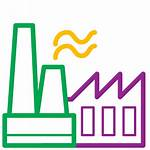 Icon Factory Production Plant Icons Manufacturing Manufacturer