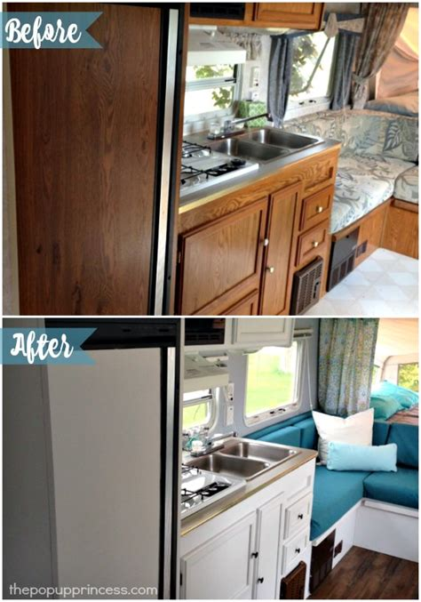 Ideas For Redoing Kitchen Cabinets - cassie 39 s hybrid travel trailer makeover the pop up princess