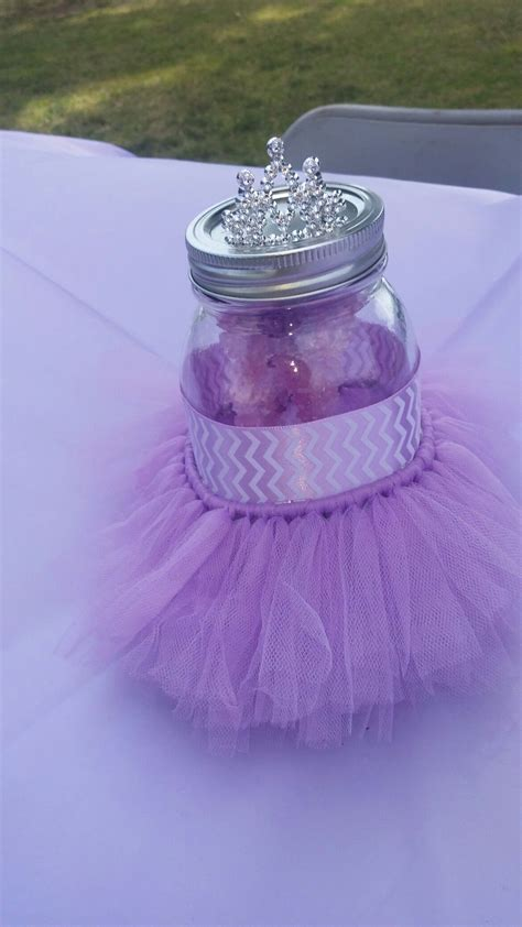 purple tutu baby shower centerpiece stuff   baby