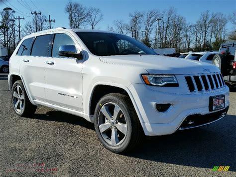 white jeep grand cherokee 2016 jeep grand cherokee overland 4x4 in bright white