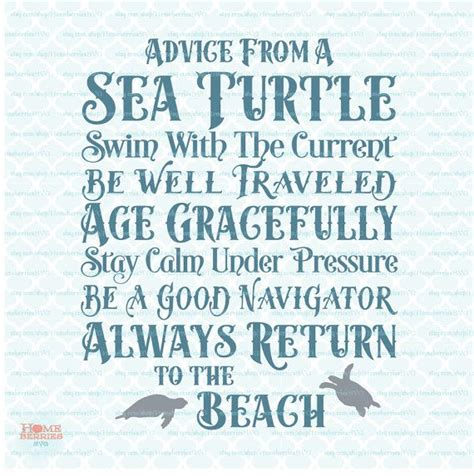 advice   sea turtle sign svg ocean svg