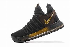 2017 Cheap Nike KD 10 Black Gold Basketball Shoes For Sale ...