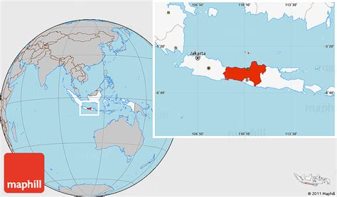 gray location map  central java highlighted country