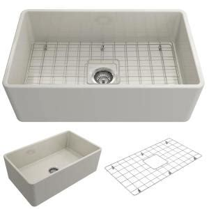 how to install a kitchen sink bocchi classico farmhouse apron front fireclay 30 in 8682