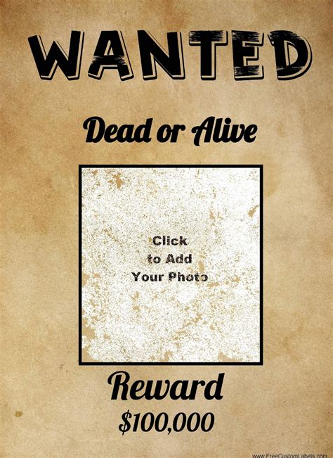 Free Wanted Poster Maker | Make a Free Printable Wanted ...