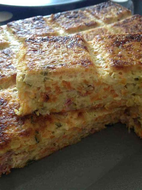 quiche sans p 226 te carottes courgettes et bacon et sa cuisine gourmande et l 233 g 232 re
