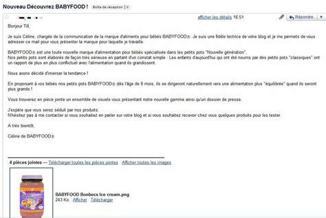 mail invitation pot de depart demission babyfood junk food pour b 233 b 233 s