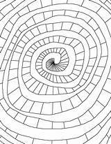 Spiral Coloring Pages Mandala Printable Books Coloringpageworld Adult Harry Colors Potter Shape sketch template
