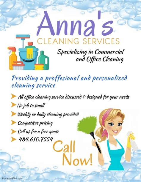 copy  cleaning service template postermywall