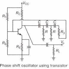 oscillators 1 study notes for electronics and With transistor phase shift oscillator