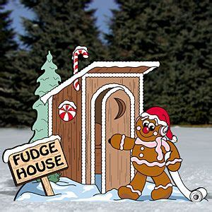 gingerbread outhouse pattern  lighten