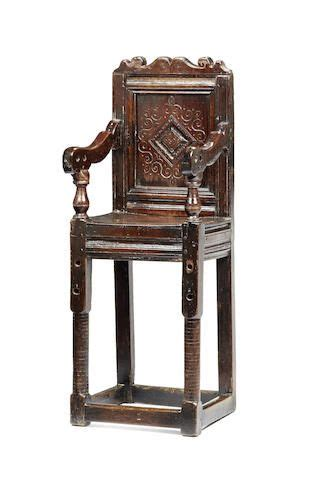 good charles ii oak joined childs high chair yorkshire