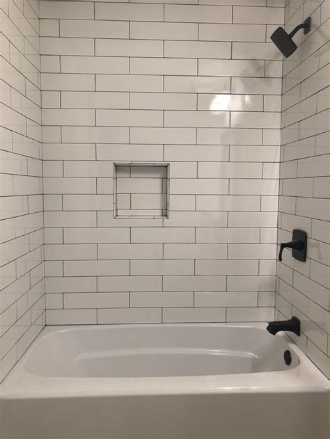 white subway tile  home depot charcoal prism
