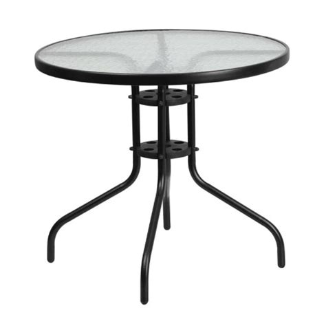 round glass top outdoor table flash furniture round patio dining table with glass top