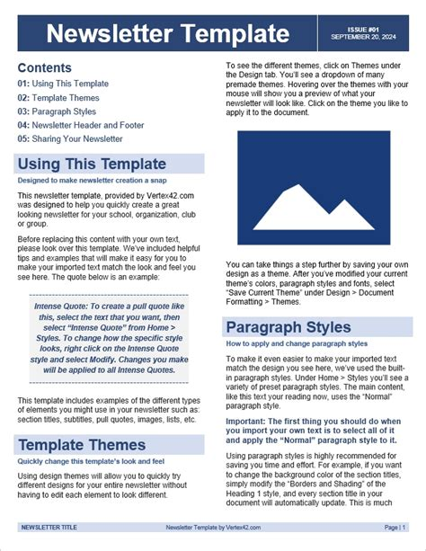 Template For Word by Free Newsletter Template Conscreens Images