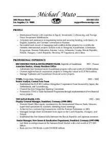 resume for banks build a resume