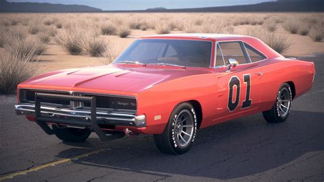 General Dodge Charger by Dodge Charger 1969 3d Model