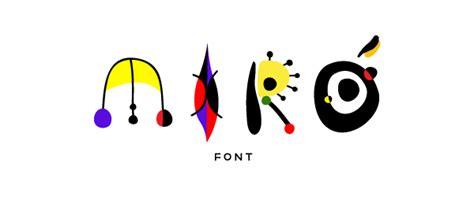 MIRÓ Font on Behance