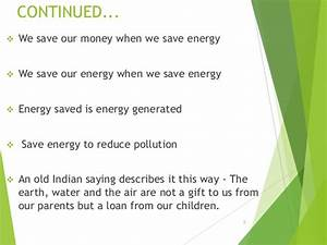 Essay on save oil save money