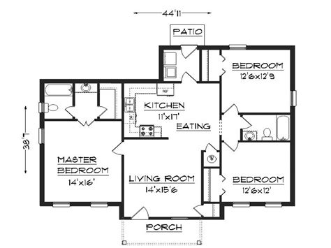 3 bedroom house blueprints 3 bedroom house plans simple house plans small easy to