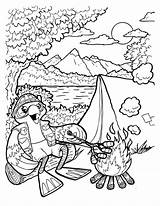 Camping Coloring Themed Camp Theme Printable Clients Getcolorings Getdrawings sketch template