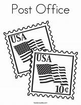 Coloring Office Stamps Usa Pages Stamp United Flag Christmas States Built Flags Ll Noodle Colors Service Constitution Happy Twistynoodle California sketch template