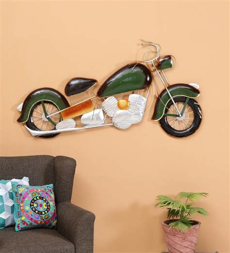 This creative handmade art is a perfect christmas, anniversary, birthday, valentines or a wedding gift. Buy Wrought Iron Enticer Bike In Black Wall Art By Malik Design Online - Automobile Metal Art ...