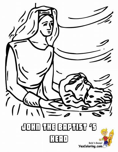 Coloring Pages Baptist John Bible Jesus Printable