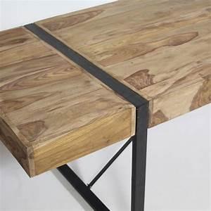 Table Bois Metal Avec Rallonge : table manger avec rallonges industrielle made in meubles ~ Teatrodelosmanantiales.com Idées de Décoration