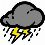 Heavy Rain Bmkg Cuaca Weather Icon Cloudy