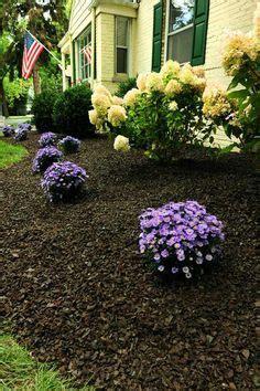 mulch landscaping ideas  pinterest