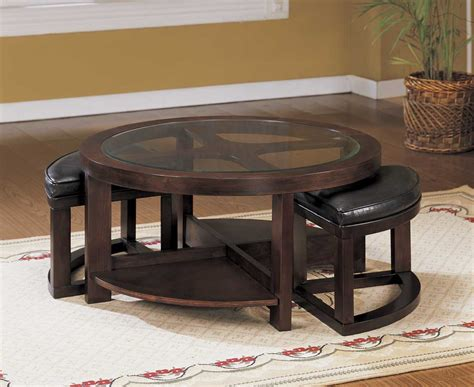 glass coffee table with chairs underneath coffee table building plans woodideas