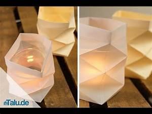 Windlicht Falten Transparentpapier : knickwindlicht f r teelichter aus papier basteln ~ Lizthompson.info Haus und Dekorationen