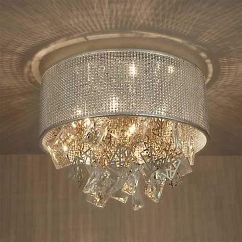 buy lewis semi flush ceiling light silver