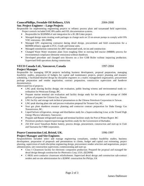 Project Controls Engineer Resume by Clean Project Engineer Resume Template Page 2