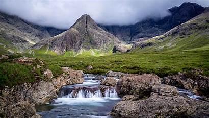 Scotland Mountains Fairy Waterfalls Scenery Pools 2560
