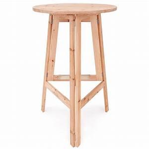Table Haute Pliable : table haute table bar bistro pliable bois massif fete ~ Teatrodelosmanantiales.com Idées de Décoration