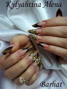 Nägel Schwarz Gold : nageldesign fotos alenail acryl schwarz gold nageldesign bilder by world nails nailart ~ Frokenaadalensverden.com Haus und Dekorationen