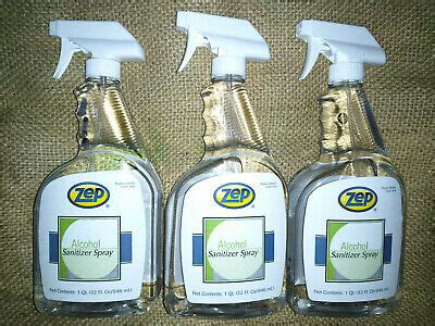 Lot Of 3 Zep 66% Alcohol Antiseptic Virus Disinfectant