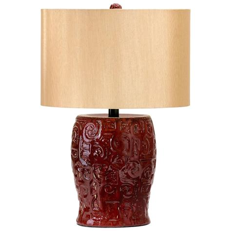 red ceramic table l parsons dark ox blood red ceramic table l wood shade